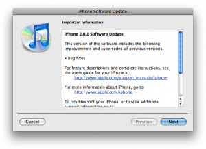 iPhone 2.0.1 Software Update